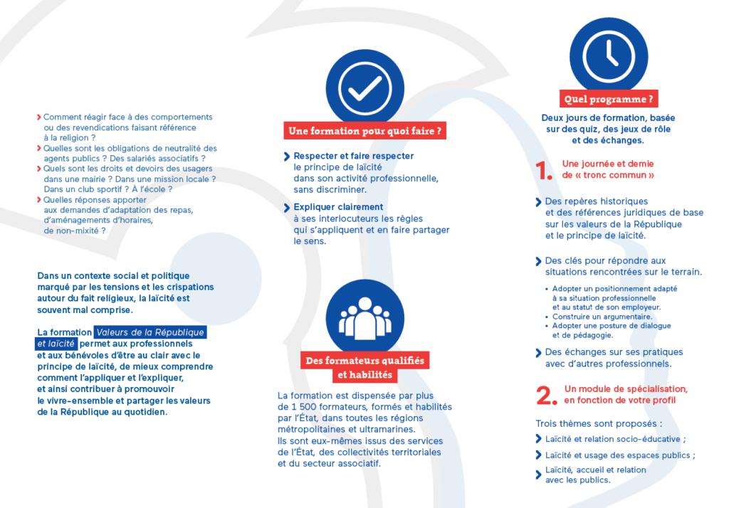 Formation Laïcité et Valeurs de la République - Flyer 2