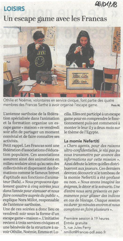 Soirée jeux Francas 26.01.2018