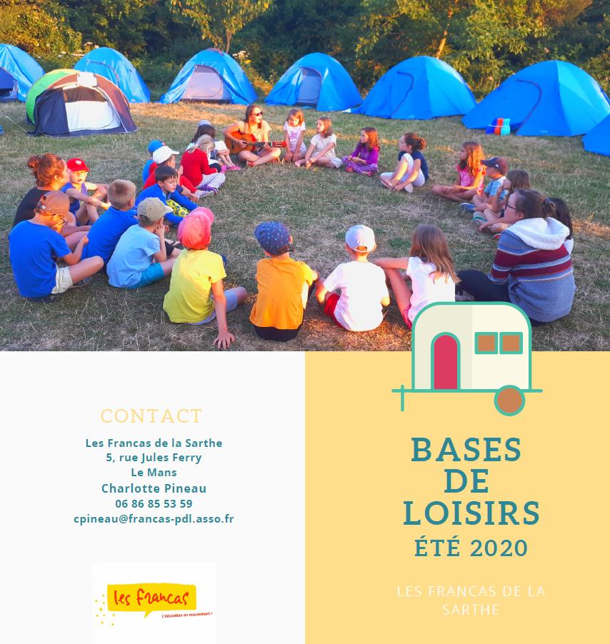 Francas 72 - Bases d'été 2020 - Flyer 1