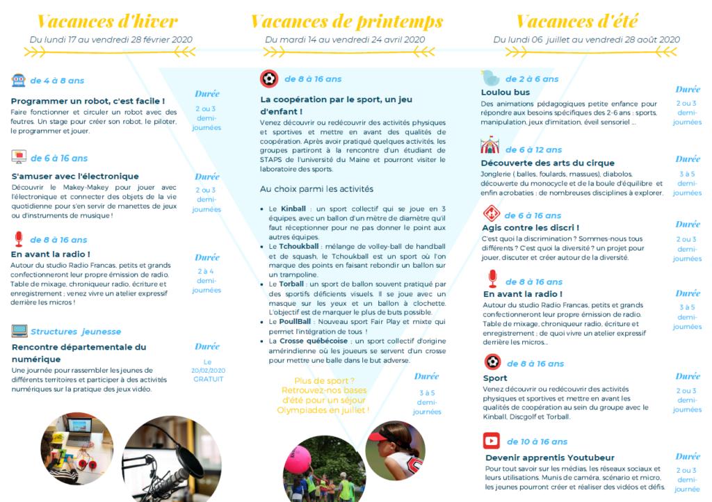 Francas 72 - Projets Vacances 2020 - Flyer 2